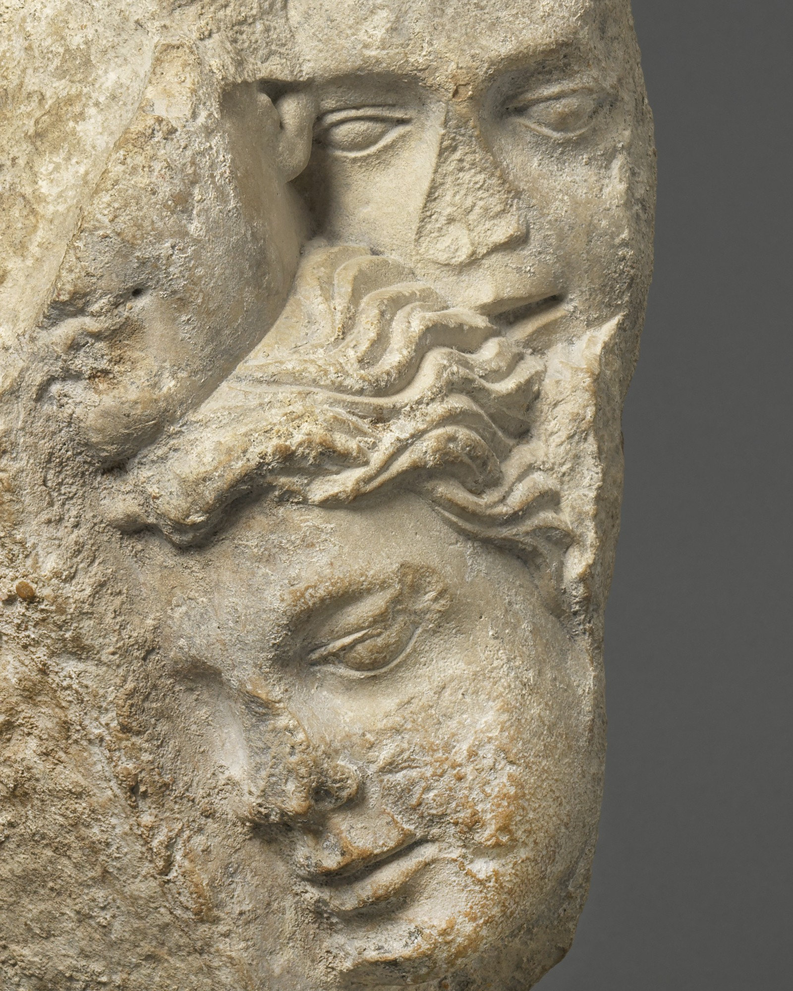 Relief with Group of Faces, France, c. 1200 – 1220