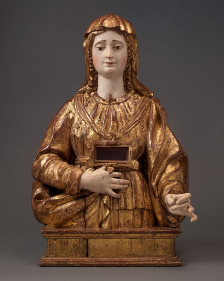 A Reliquary BustFemale Saint, Spain, Seville, first half 16th century