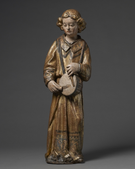 Angel with Tambourine, Italy, Lombardy, mid 15th century