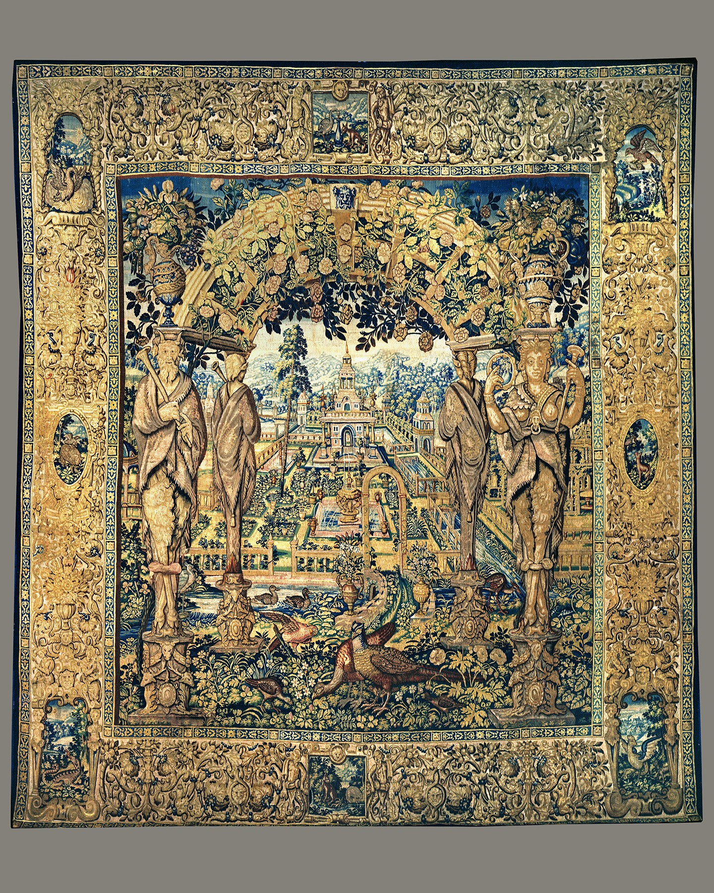 A Garden Tapestry, Workshop of Jan RaesFlemish, Brussels, c. 1610