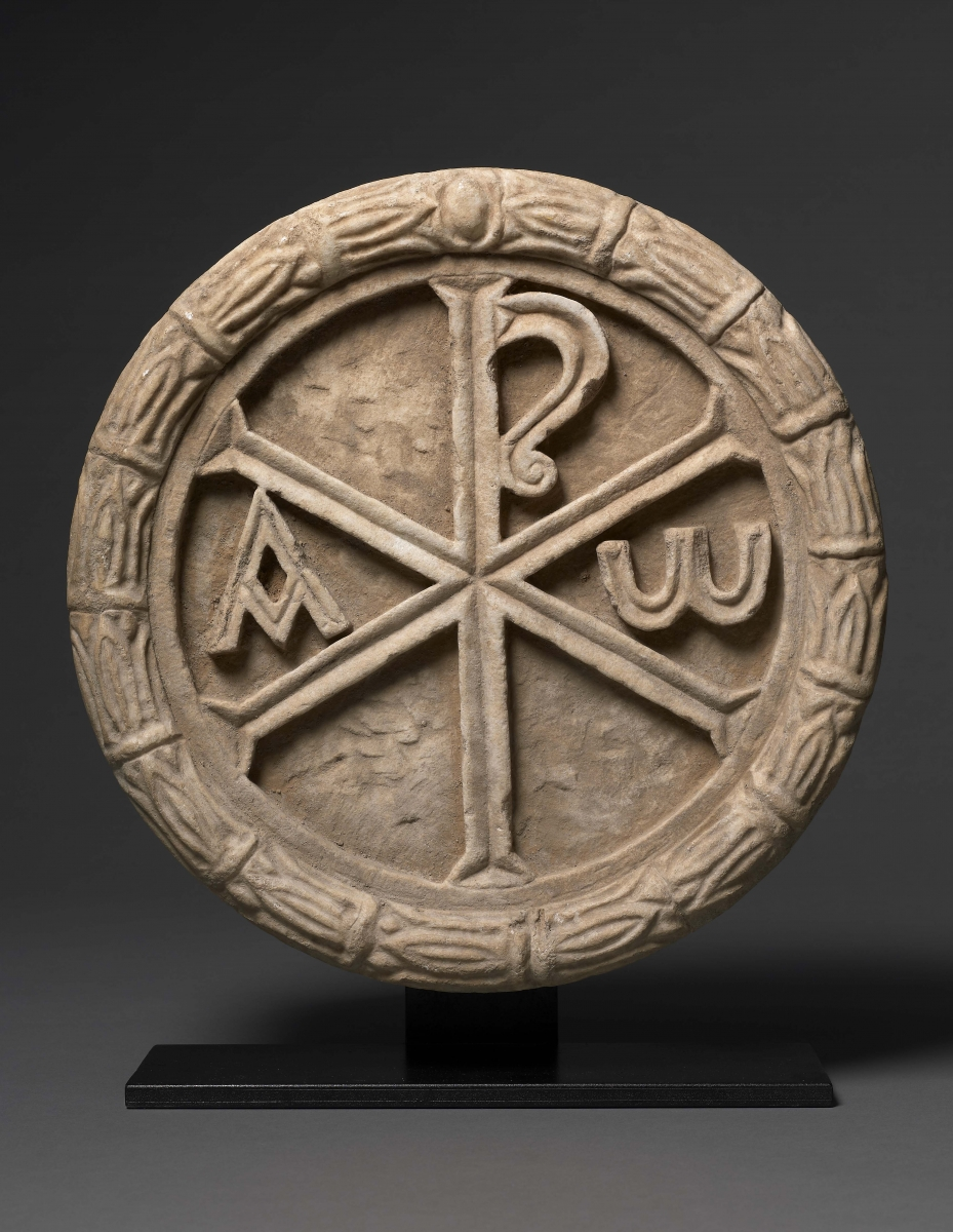 Roundel with Chi Rho, Byzantine, 5th – 6th century