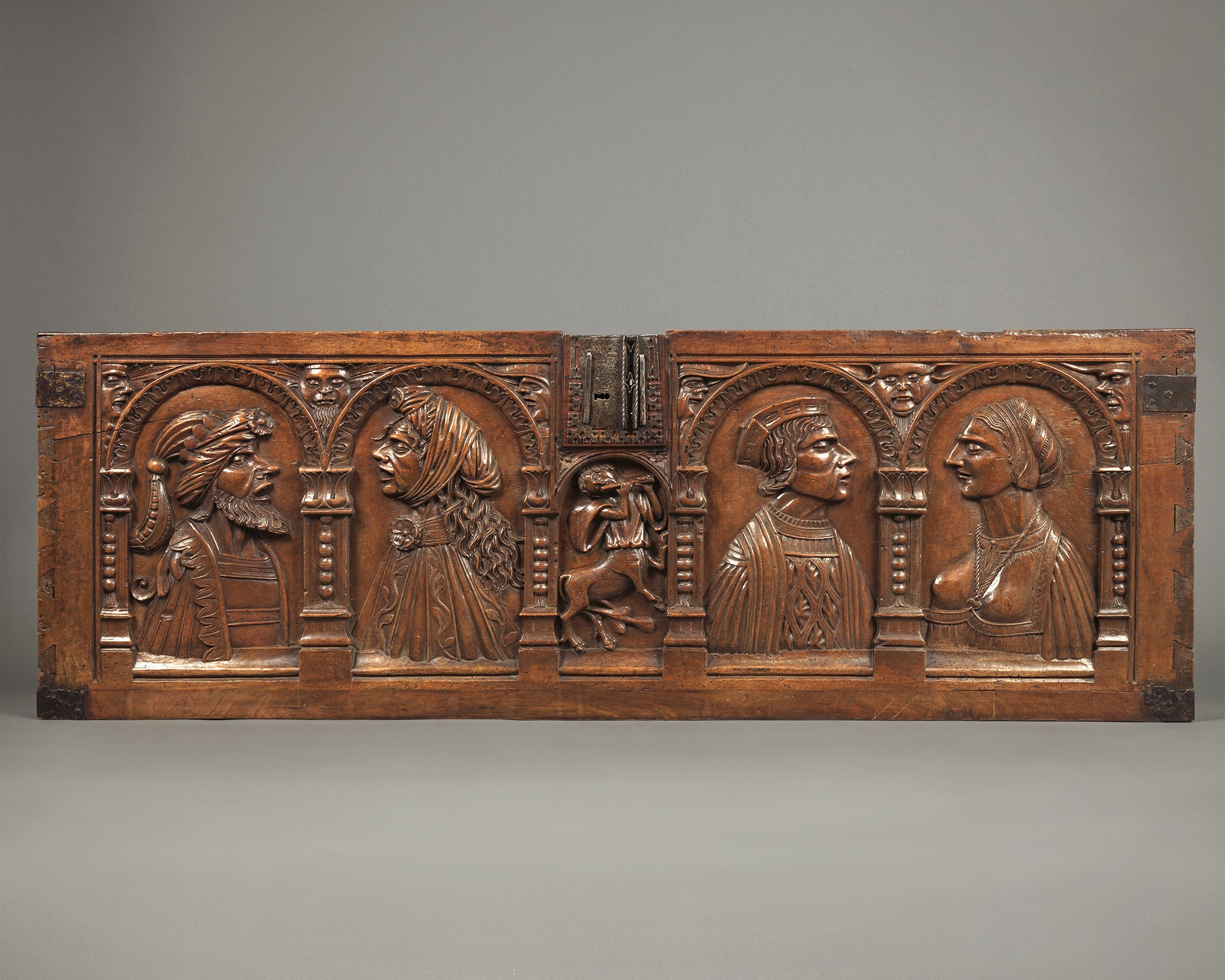 Marriage Chest Panel with Couple, France, early 16th century