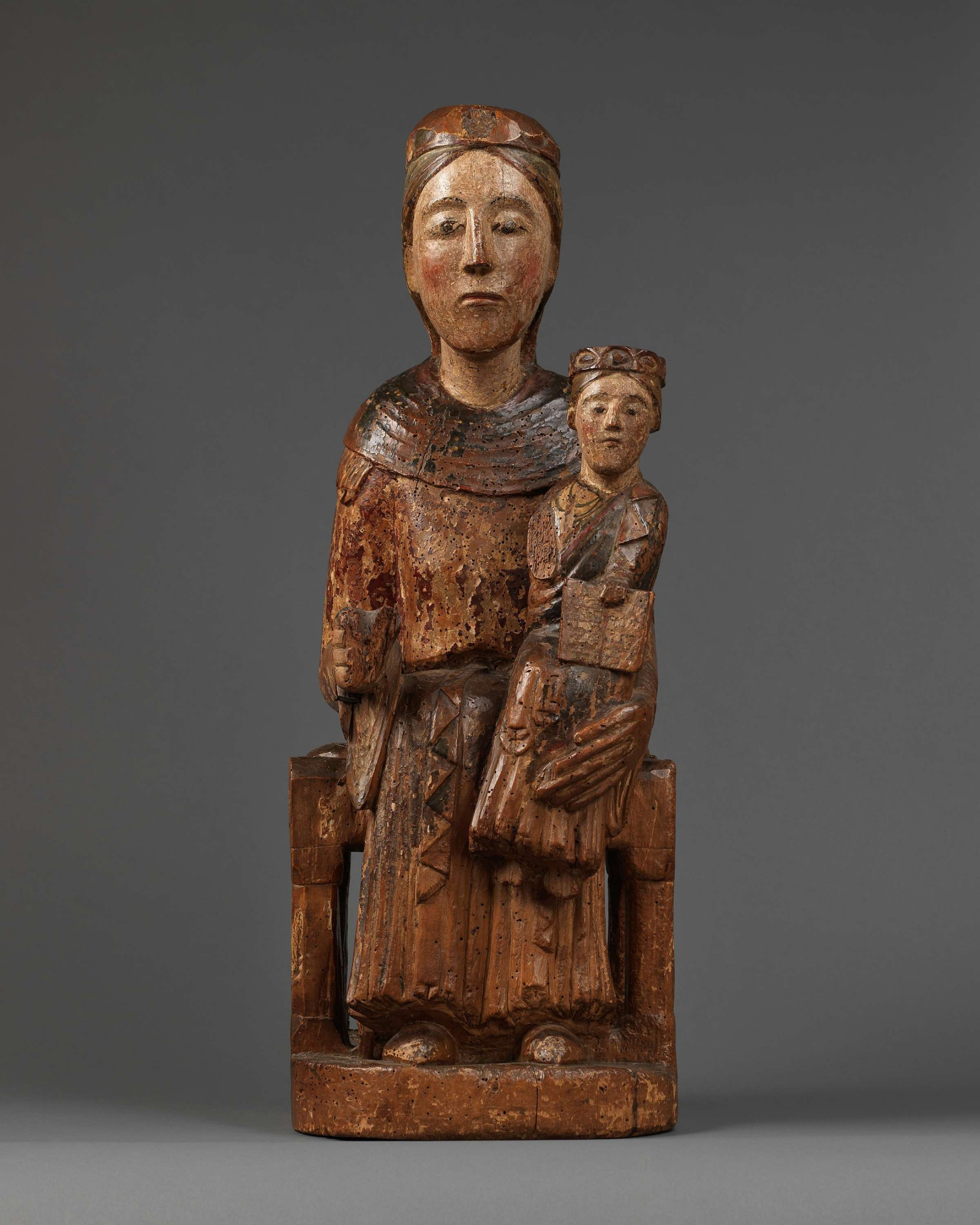 Enthroned Virgin and Child, Sedes Sapientiae, Eastern France, last quarter 12th century