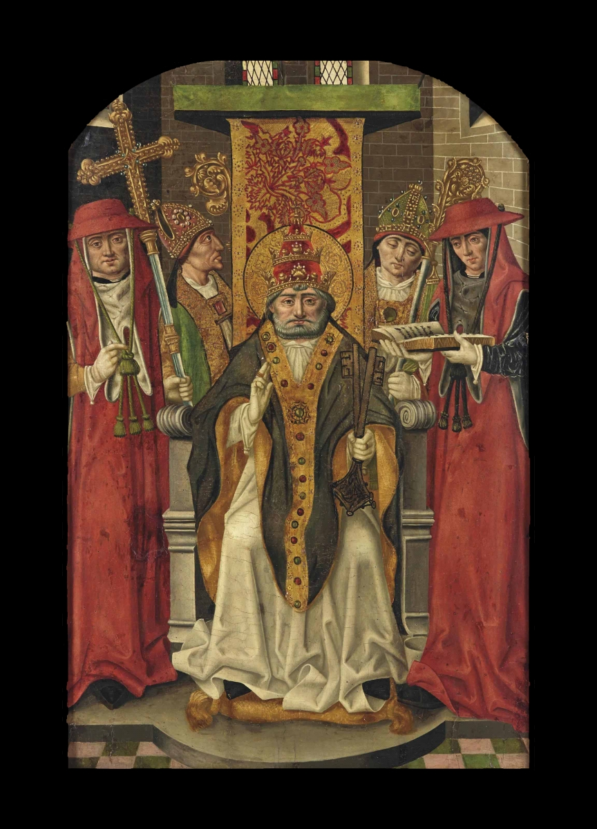 Coronation of Saint Peter, The Master of San Nicolas(active Burgos 1475 –1500) (Diego del