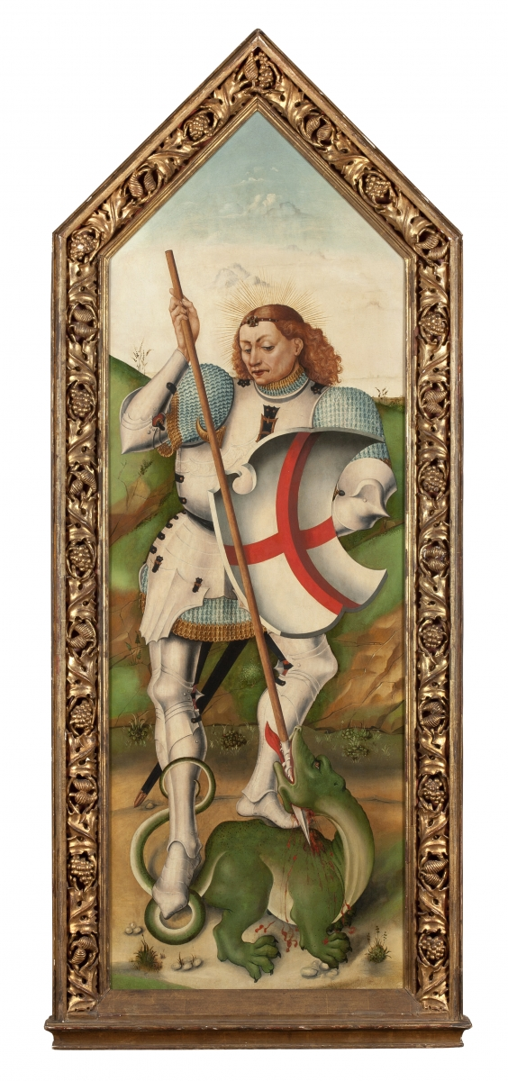 Saint George and the Dragon, Jorge Inglés(active Castile c. 1455 – after 1485), Th
