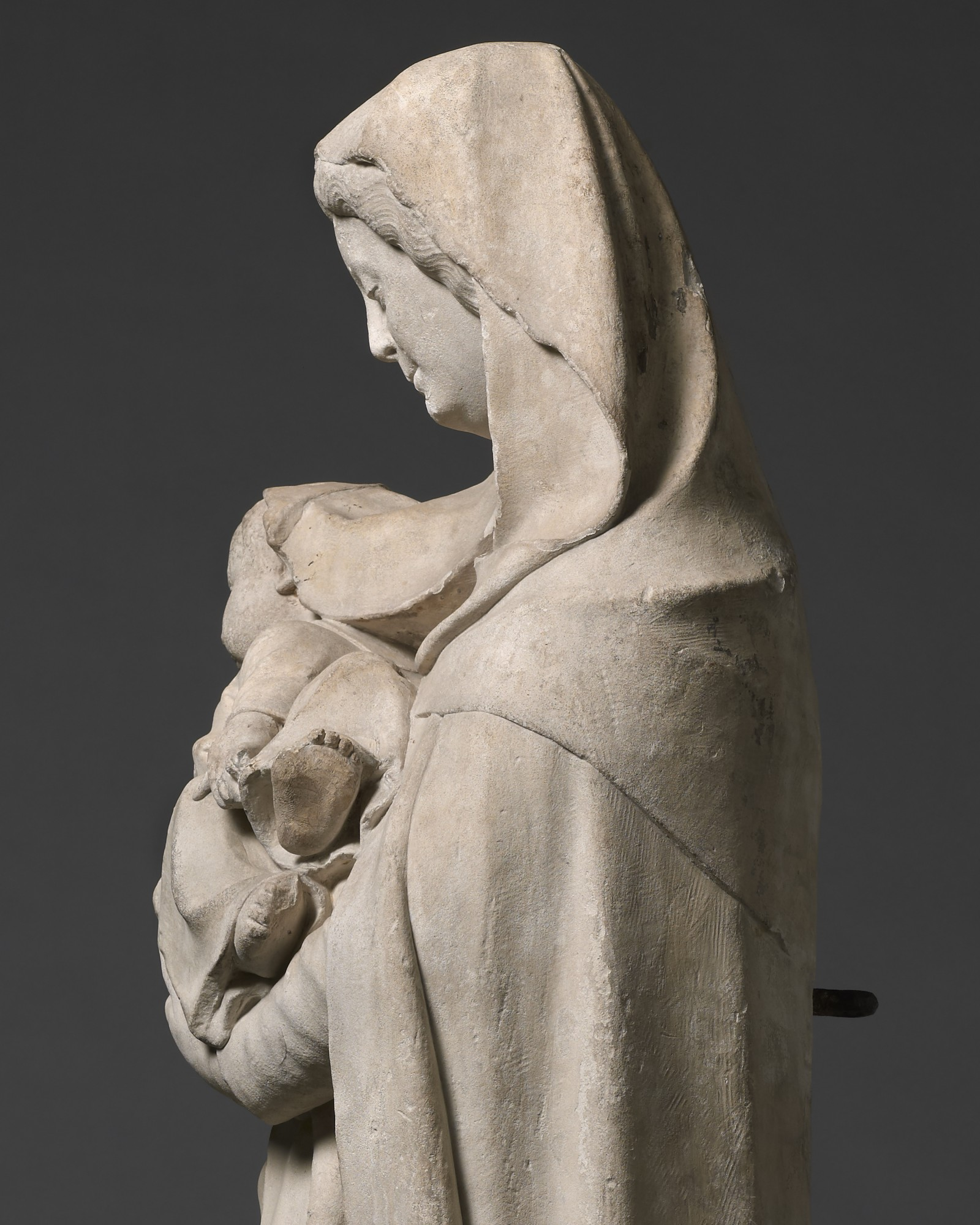 Vierge d'Intercession, Attributed to Jean de la Huerta (active 1431 –1462), France, Burg