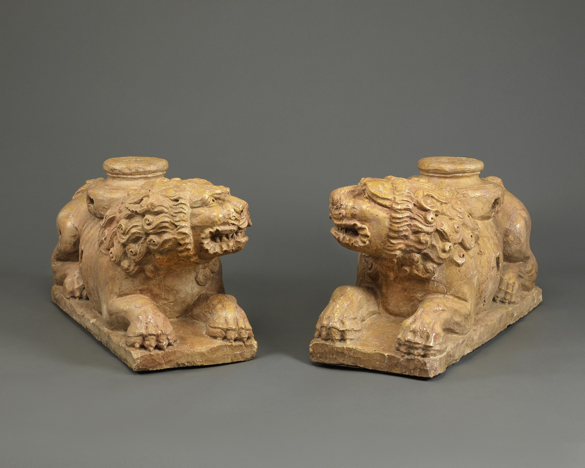 A Pair of Recumbent Lions, Italy, Venice, first half 16th century