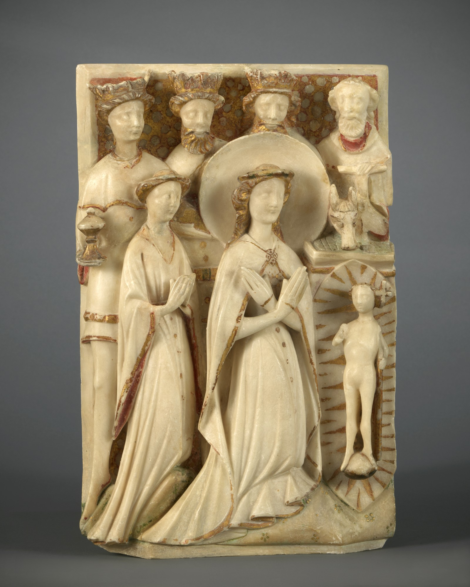 Relief with the Adoration of the Magi, England, Nottingham, 15th century