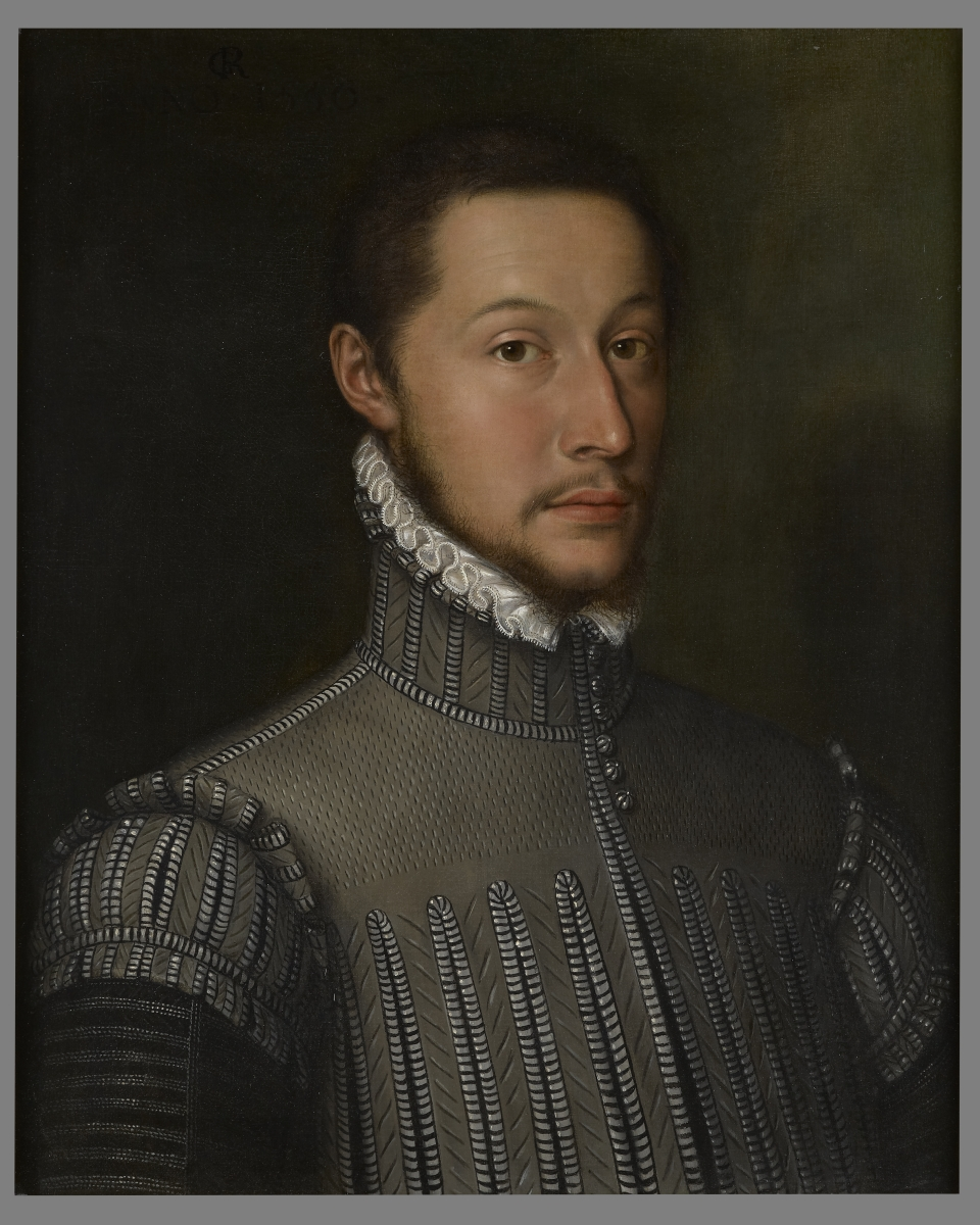 A Portrait of a Nobleman, Bust Length, Wearing a Doublet and a White Lace Collar, The Monogrammist G