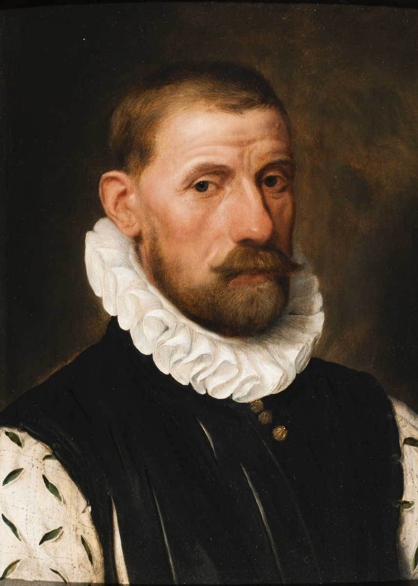 A Portrait of Lamoraal, Count of Egmont, wearing a Linen Ruff and a White and Green Silk Sleeved Dou