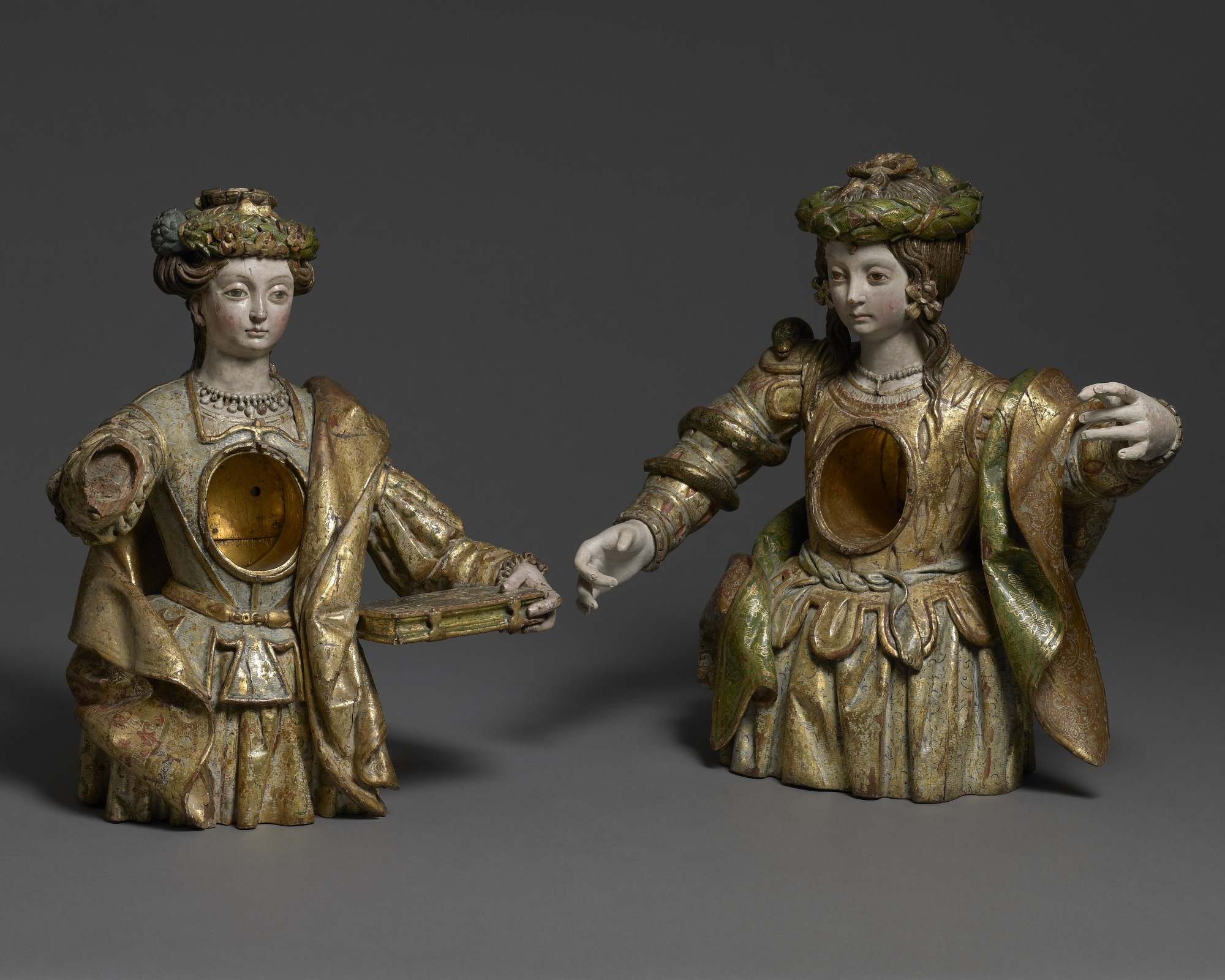 A Pair of ReliquariesSaints Thecla and Susanna, Spain, first half 16th century