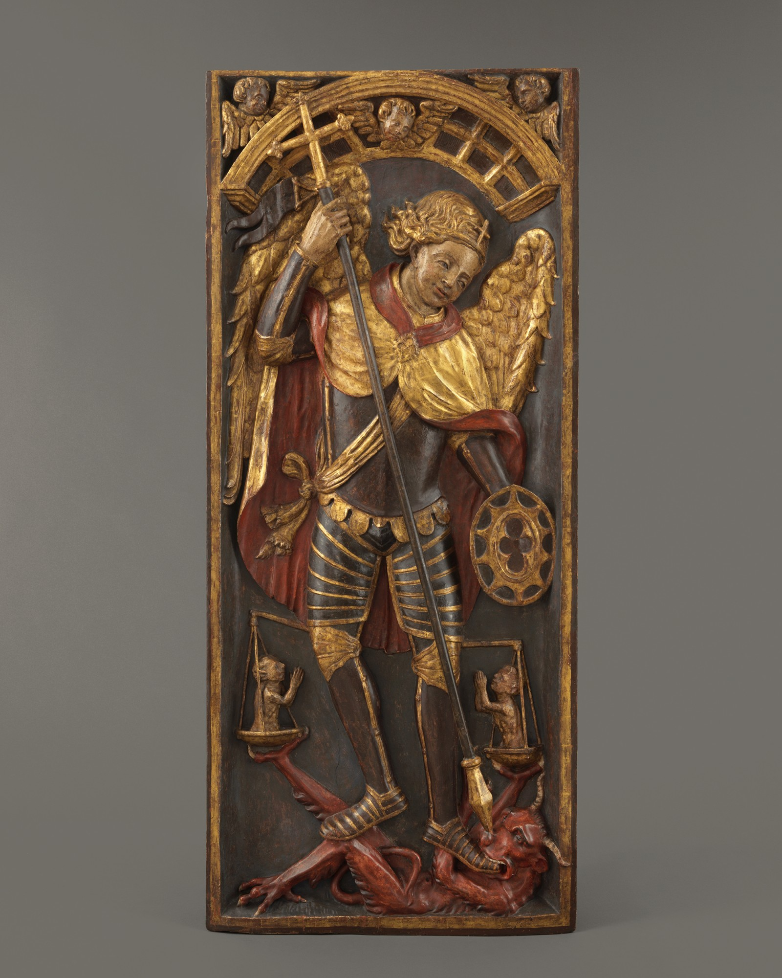 Retable Panel with Saint George and the Dragon, Spain, first quarter 16th century