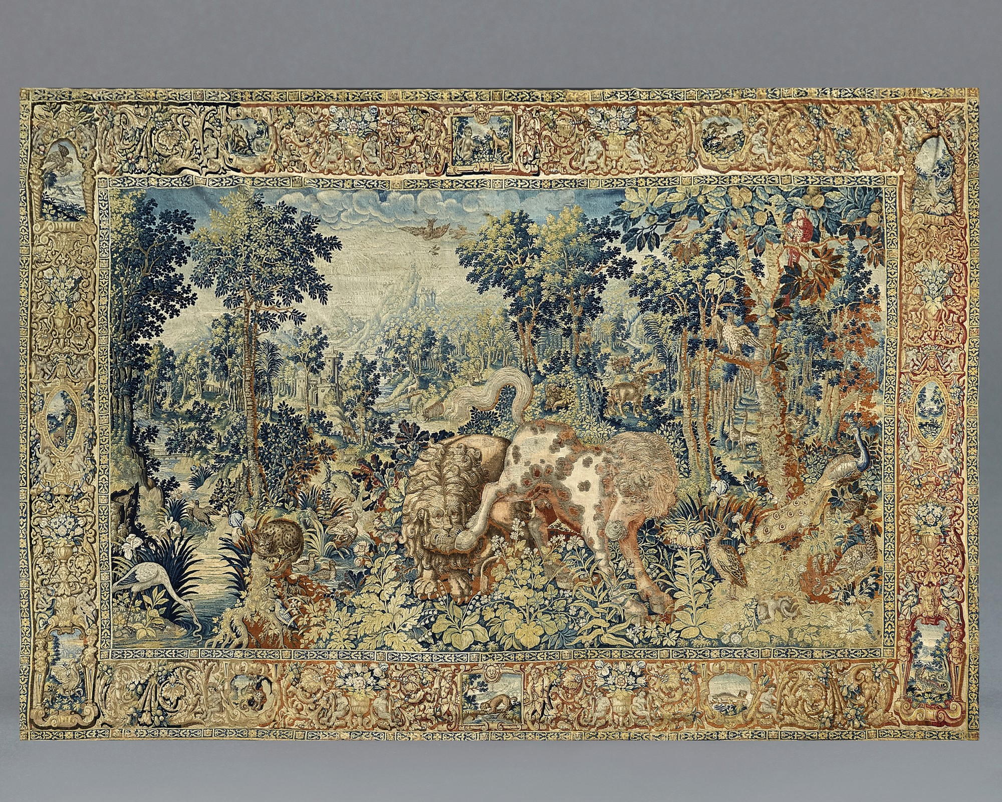 A 'Pugnae Ferarum' Tapestry, Flemish, probably Enghien, second half 16th century