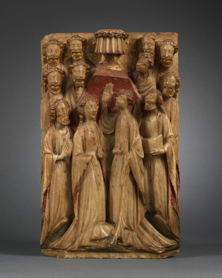 Relief with the Ascension of Christ, England, Nottingham, 15th century