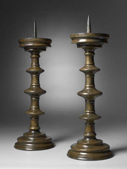 A Pair of Pricket Candlesticks, Southern Germany, c. 1500