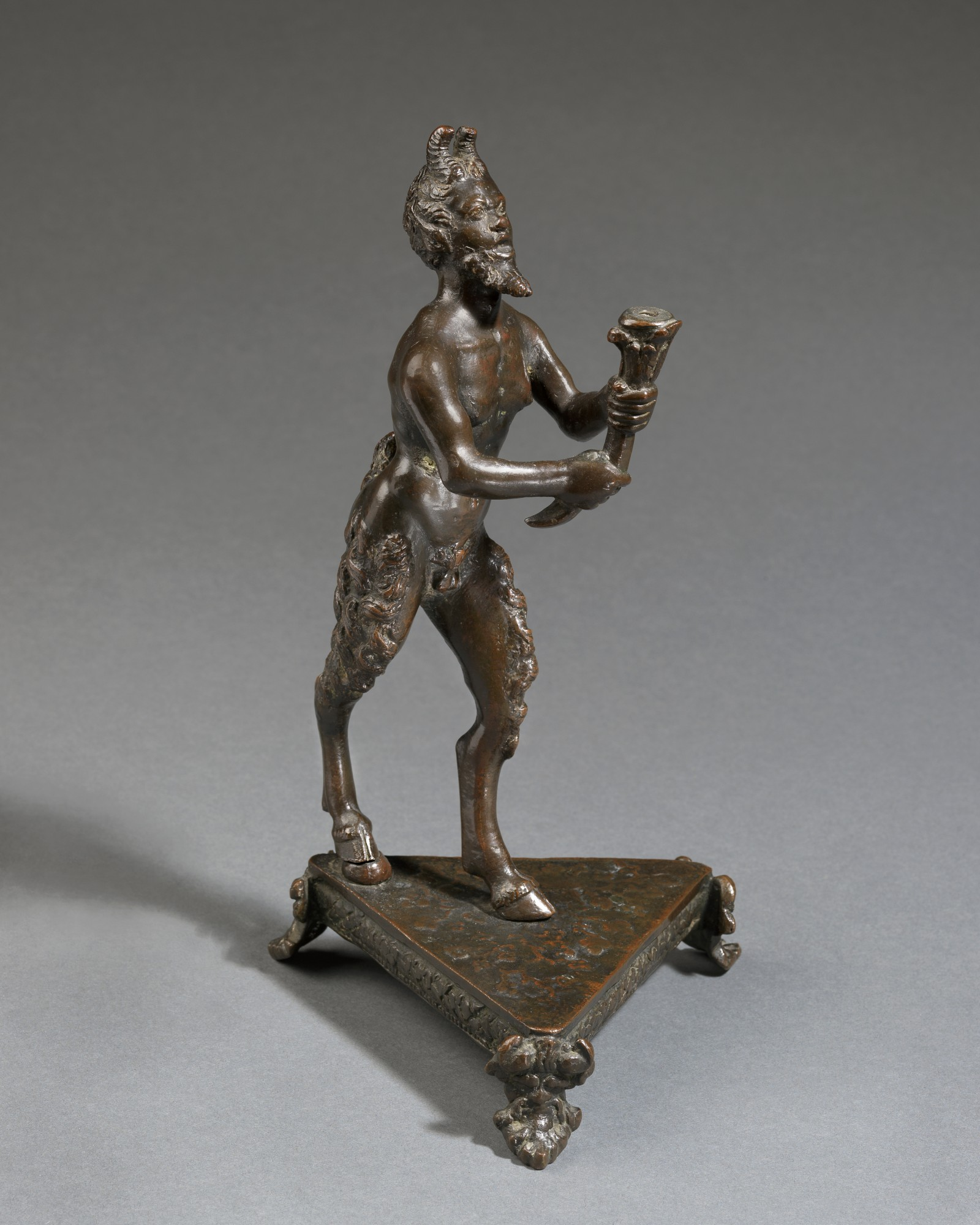 Faun, Attributed to the workshop of Desiderio da Firenze(active Padua 1532 – 1545), Italy, Pad